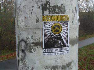 Plakat der Identitären Bewegung in Bad Bevensen